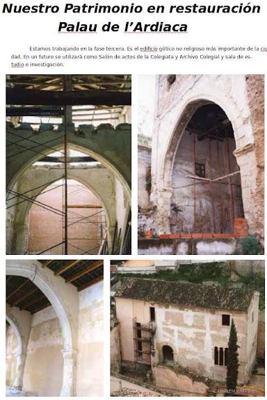Nuestro patrimonio en restauración