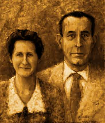 Manuel Casesnoves y Adela Soldevila. Parroquia de Santa María de Xàtiva