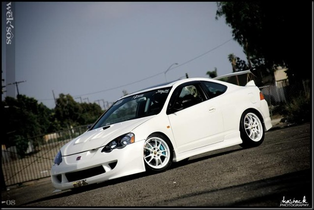 White Integra side