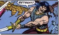 Not that Conan would ever say retreat.