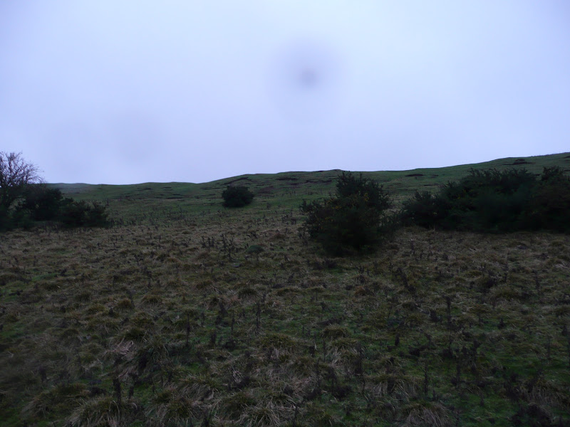 Looking up the left side earthworks.