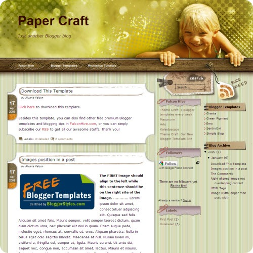 paper-craft-blogger-template