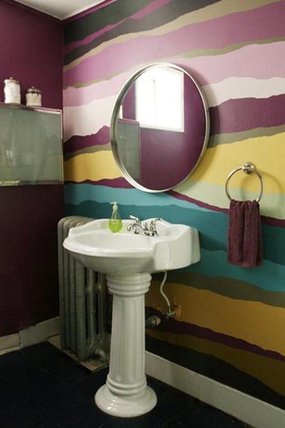 Färgglatt badrum 1
