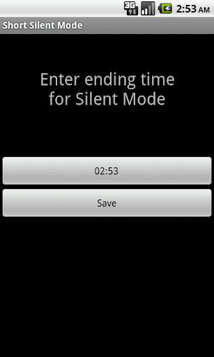 Short Silent Mode