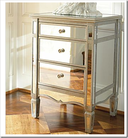 mirrored nightstands for sale
