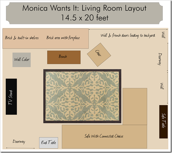 Rug sizes living room monica wants it for What is the average size of a living room rug
