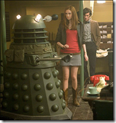 Doctor and Amy with Daleks