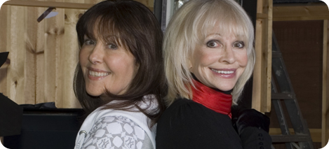 Lis Sladen and Katy Manning