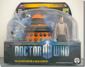 Orange Dalek and Doctor
