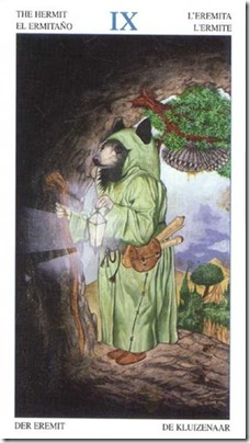 09-Major-Hermit Animal Lords TAROT