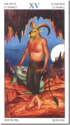 15-Major-Devil Animal Lords TAROT