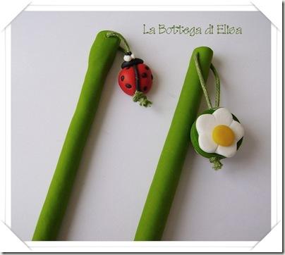 bacchette fiore e coccinellla
