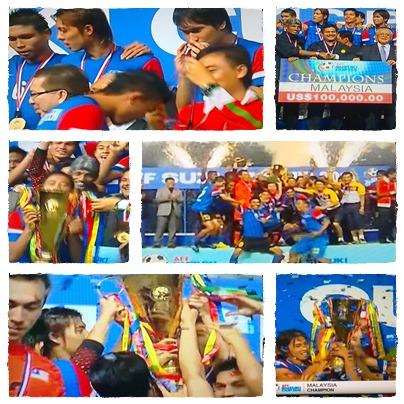 Skuad bola sepak Malaysia juarai piala AFC Suzuki