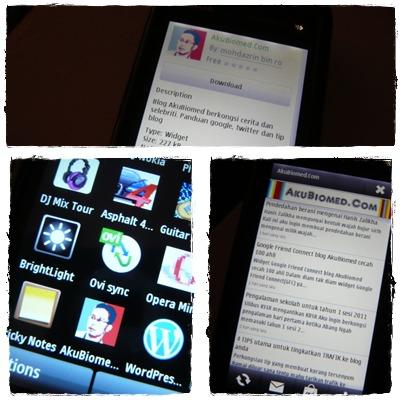 Blog AkuBiomed didalam Nokia MusicXpress5800