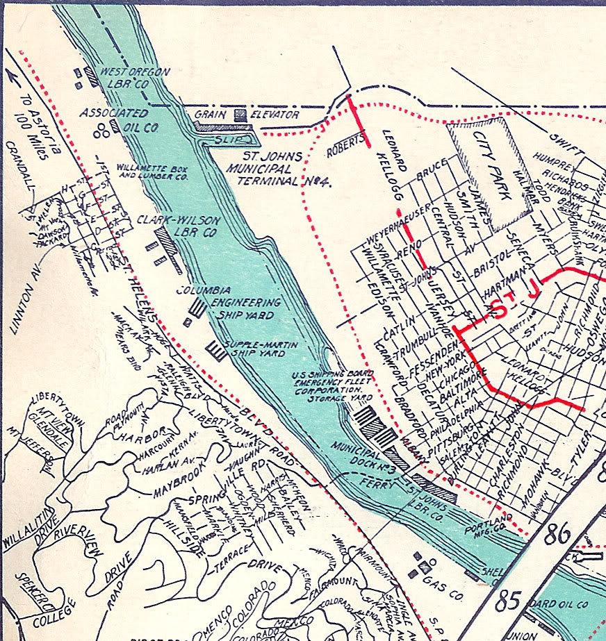 The ZehnKatzen Times Map Design Pdxhistory The Willamette - Willamette river on map of us