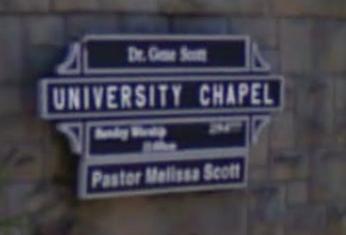 University Chapel Sign