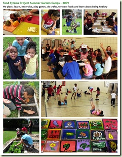 Summer Garden Camp Photo Collage