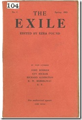 The Exile (Ezra Pound)