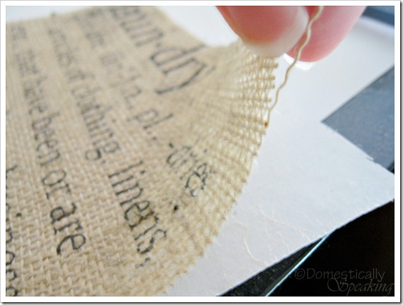 Domestically Speaking:  Printing on Burlap Tutorial