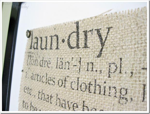 Cute Laundry Defined Burlap Sign
