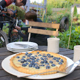 Hurry up with the bike repairs! Homemade tart awaits!