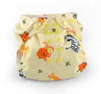 Mommys Touch Newborn Cloth Diaper Baby Safari Print