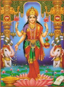 Lakshmi, a jólét istennője