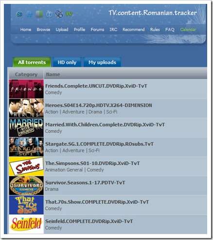 Tv.Torrents.Ro Index