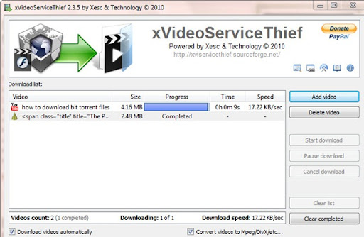 Note that among the video streaming sites supported by xVST are a bunch of ...