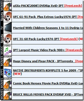 IPtorrents packs