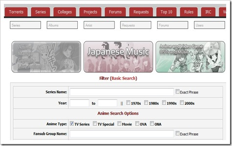 AnimeBytes screenshot