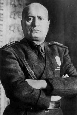 Бенито Муссолини- лидер фашисткой Италии