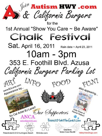 AutismHWY.com 1st Annual Show You Care ~ Be Aware Chalk Festival