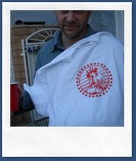 Chris's custom shirt