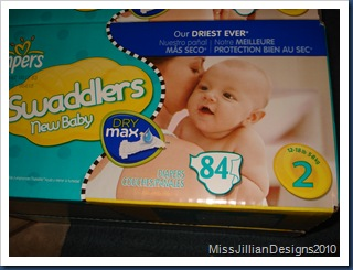 Pack of 84 diapers