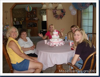 Diaper cake as baby shower centerpiece