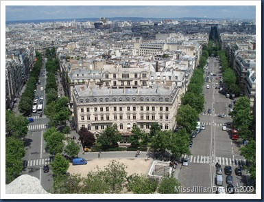 View of Paris from atop the Arc de Triomphe