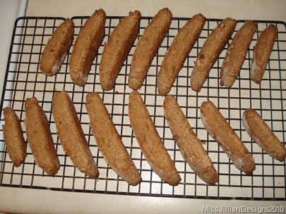 biscotti fresh from the oven from second baking