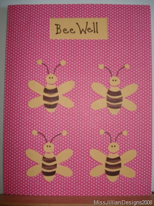 Bee Well - get well card - front