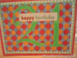 Birthday card - front - 2006, May