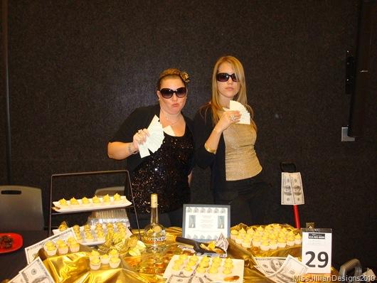 Kathy and Sarah as gold diggers