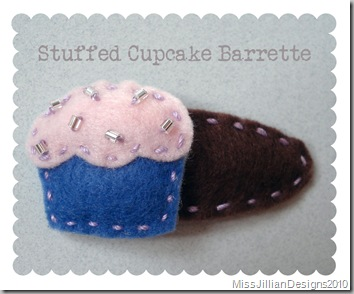Stuffed Cupcake Barrette