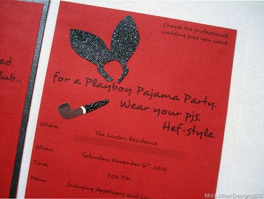 Playboy Pajama Party invitation - Back