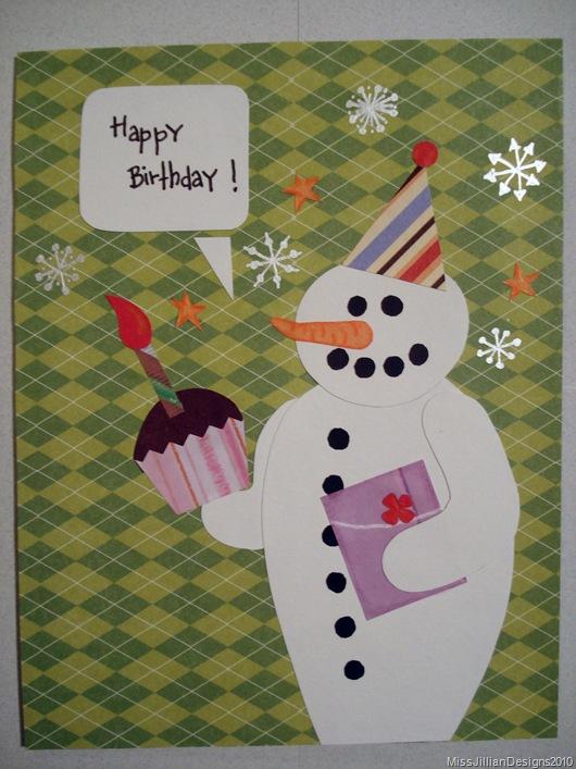 Birthday Card - Snowy Birthday - Front