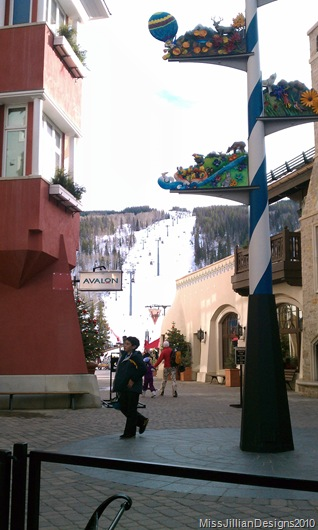 Lionshead Vail Square and Vail mountain taken by my love