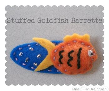 Stuffed Goldfish Barrette