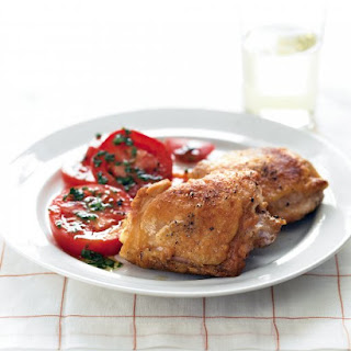 Fried Chicken with Vine-Ripened Tomato Salad