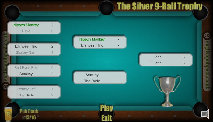 Tournaments - American 9-Ball Pool - Screen Shot
