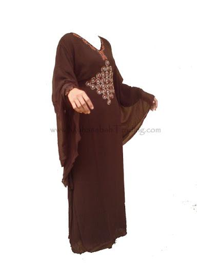 CDA001 Kaftan Caftan Dress Party Dresses DARK BROWNK Size 40 M