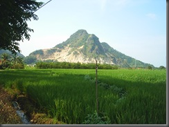 foto of beautiful  majalengka pemandangan di gunung batu sinapeul